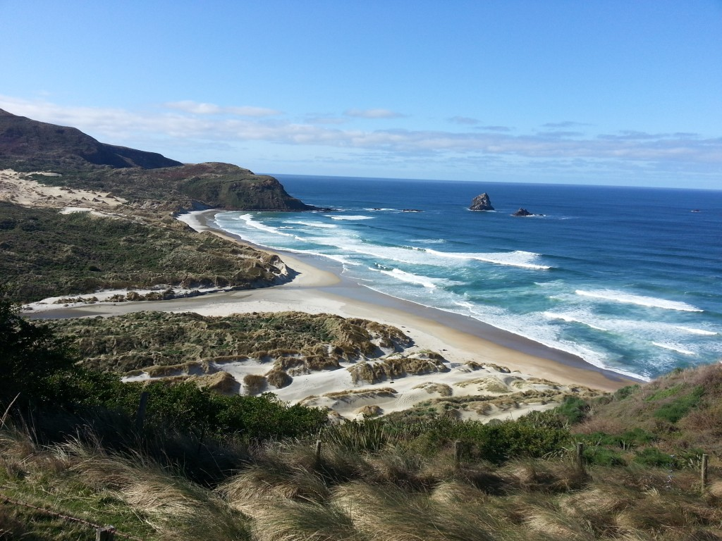 Sandfly Bay from on high