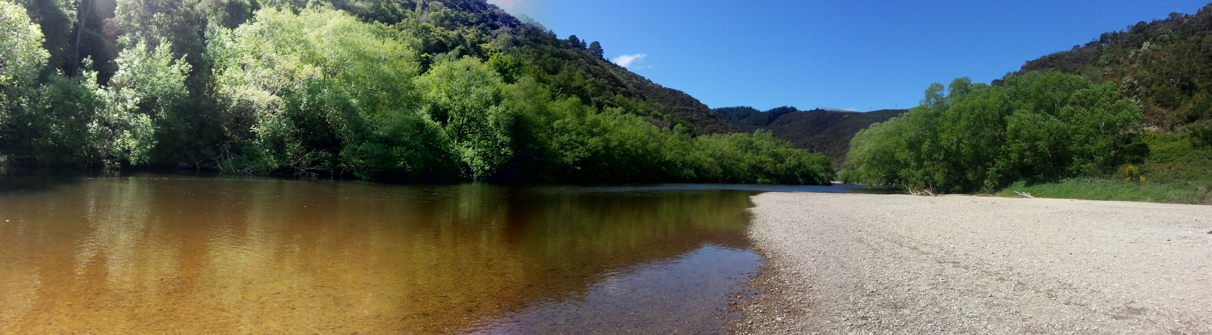 Fishing at Outram Glen
