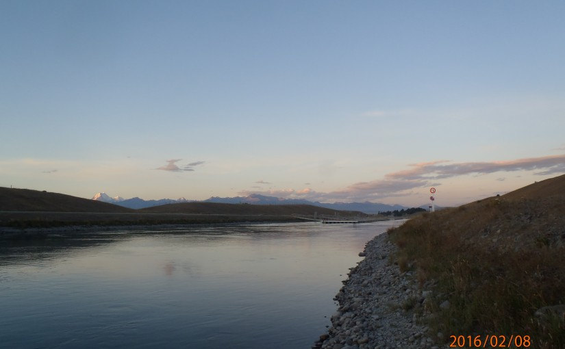 Return to the Tekapo Hydro Canal