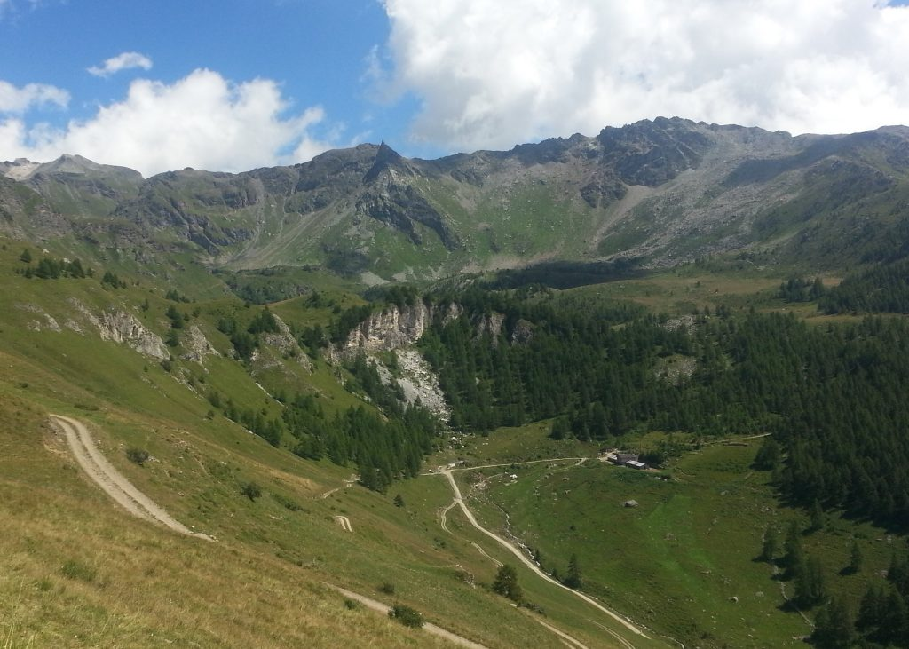 View from the slope above Chamois