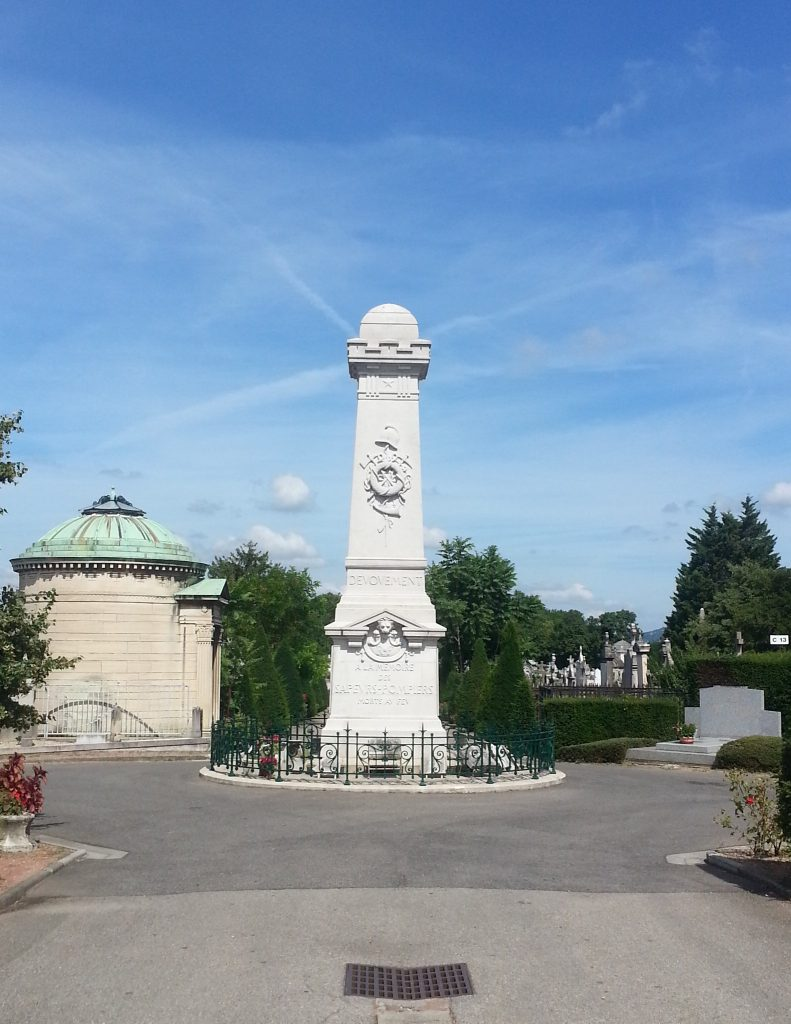 Monument in Loyasse Cemetery