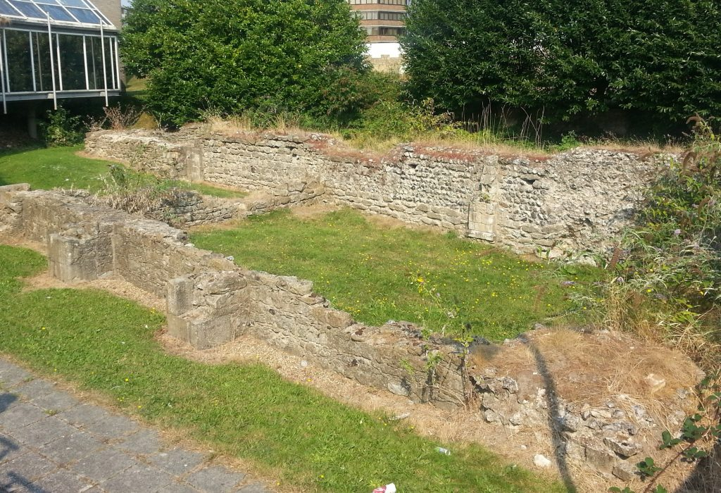 Remains of a once-grand church