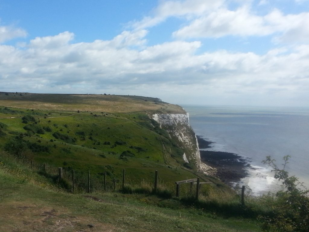 First view of the white cliffs