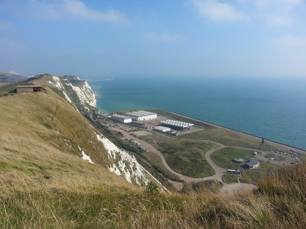 Fortification and Samphire Hoe below