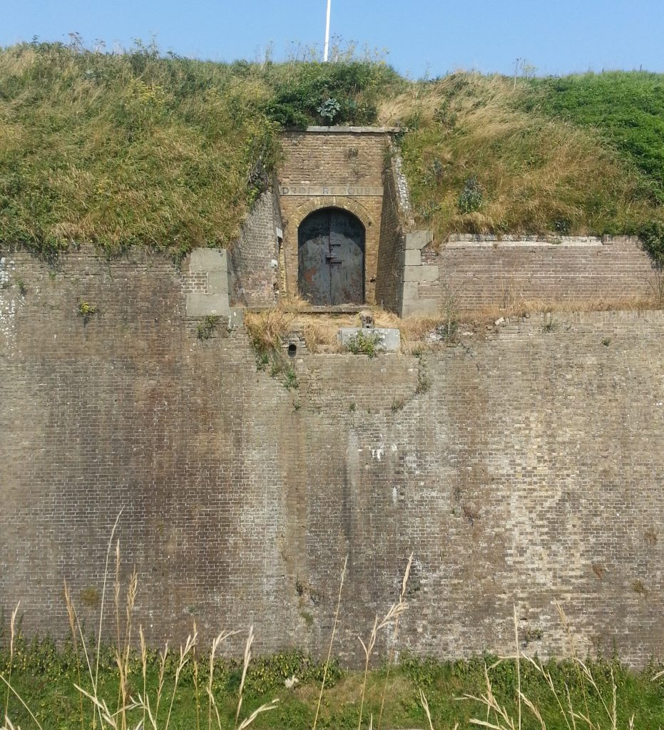 Entrance to redoubt