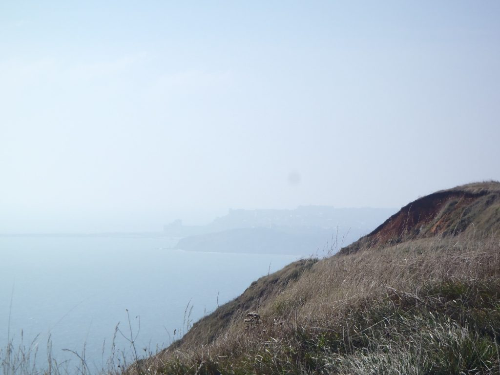 Folkestone in the distance