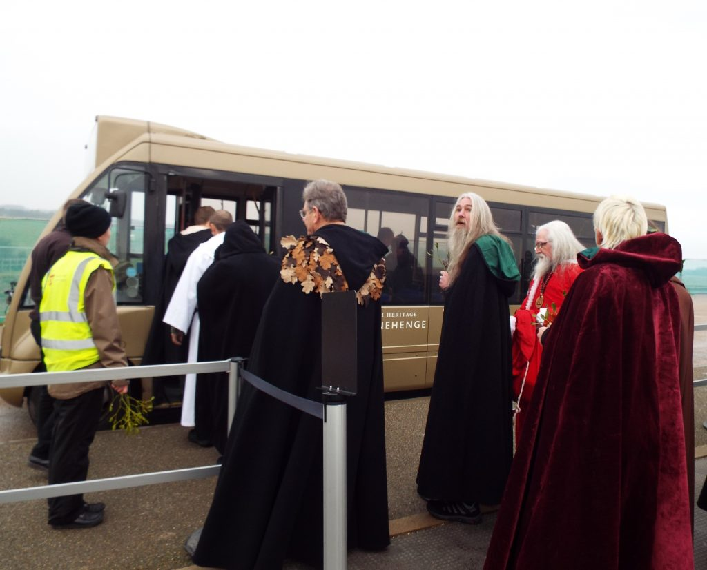 Dorset druids leaving
