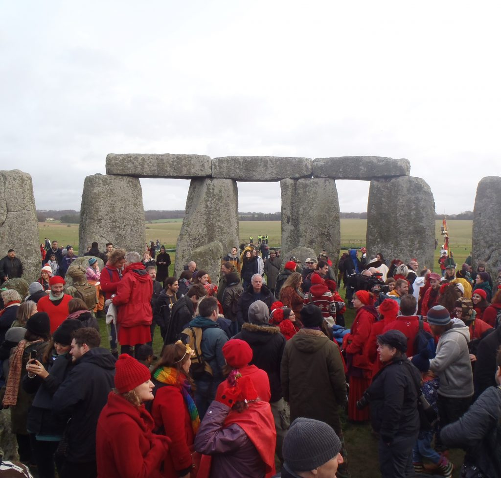 Celebrating solstice at Stonehenge