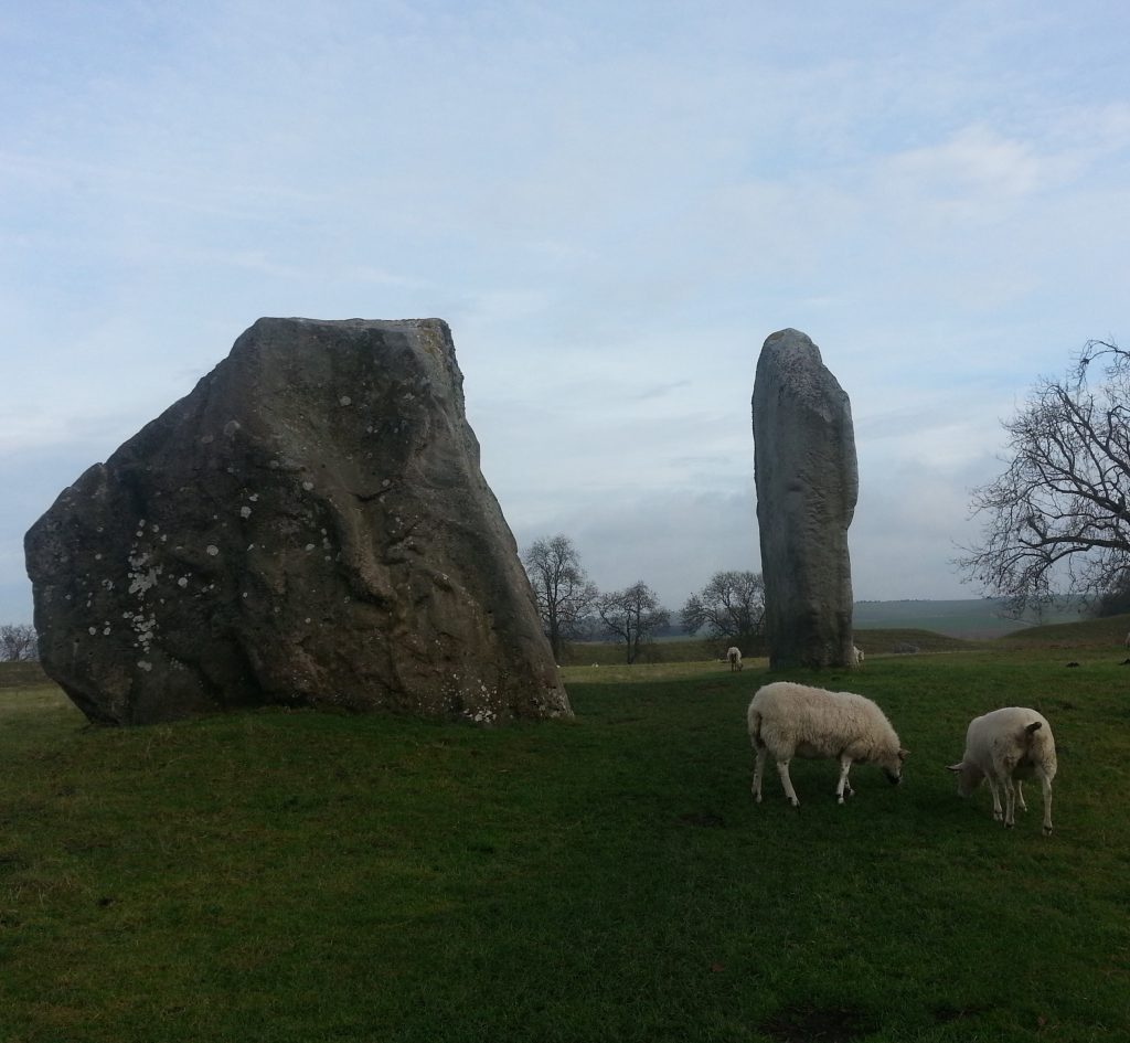 Stones with sheep