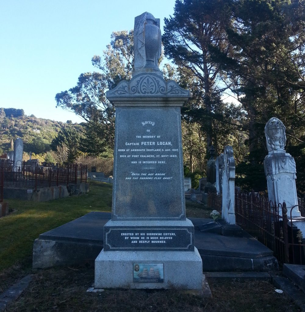 Headstone of Captain Peter Logan