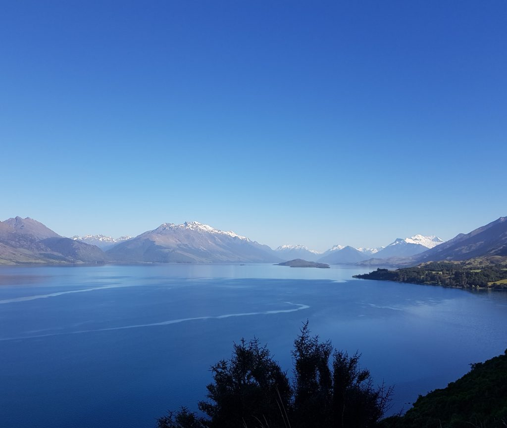 View of Lake Wakitipu from lookout