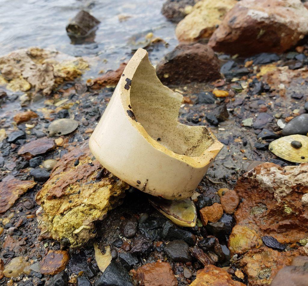Broken bottle at Deborah Bay
