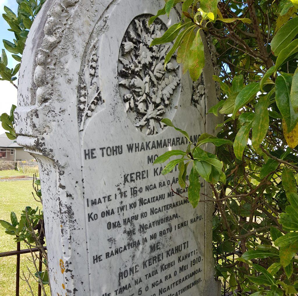 Kerei Kahuti and Hone Kerei Kahuti's headstone