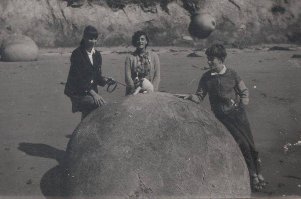 My mother and her siblings at Moeraki circa 1971