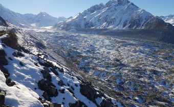 On the Brink of the Tasman Glacier