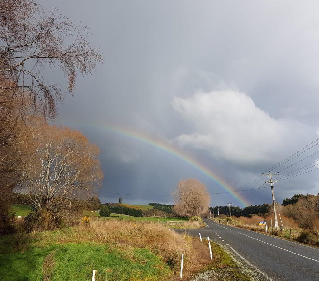 Rainbow at Tuturau Reserve