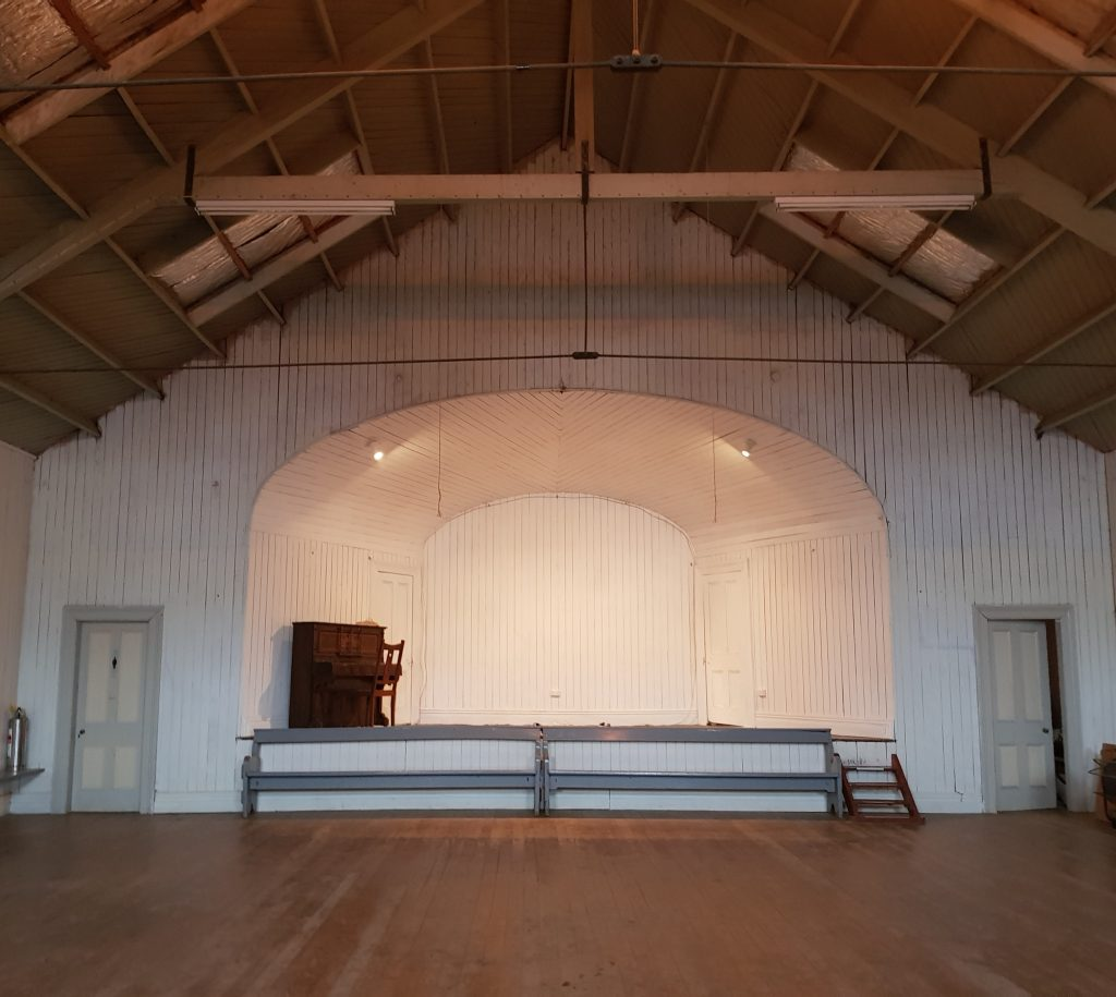 The Pukehiki Hall stage