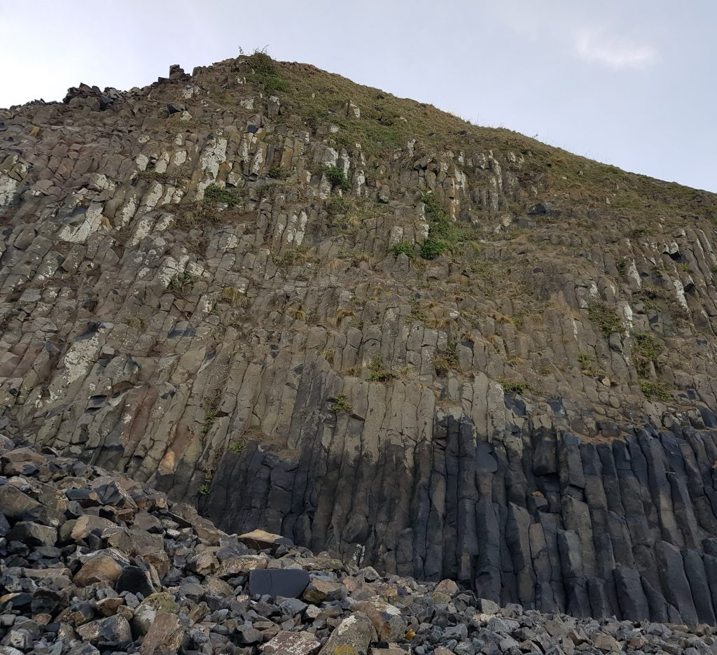 Basalt columns at Blackhead