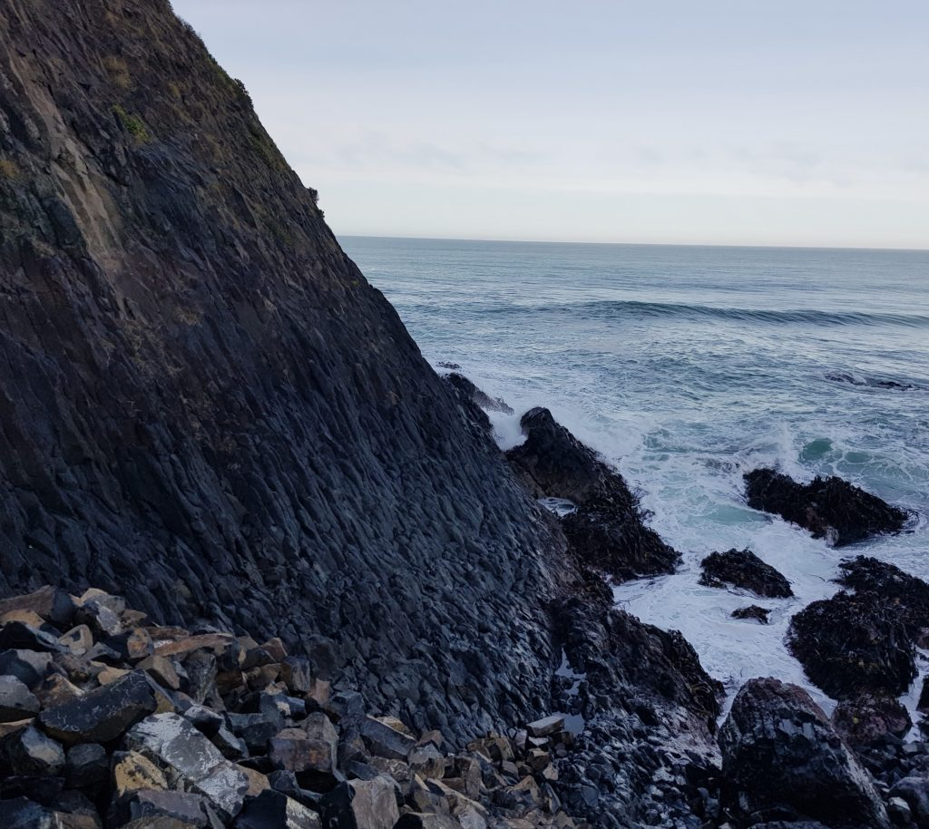 Basalt cliff at Blackhead