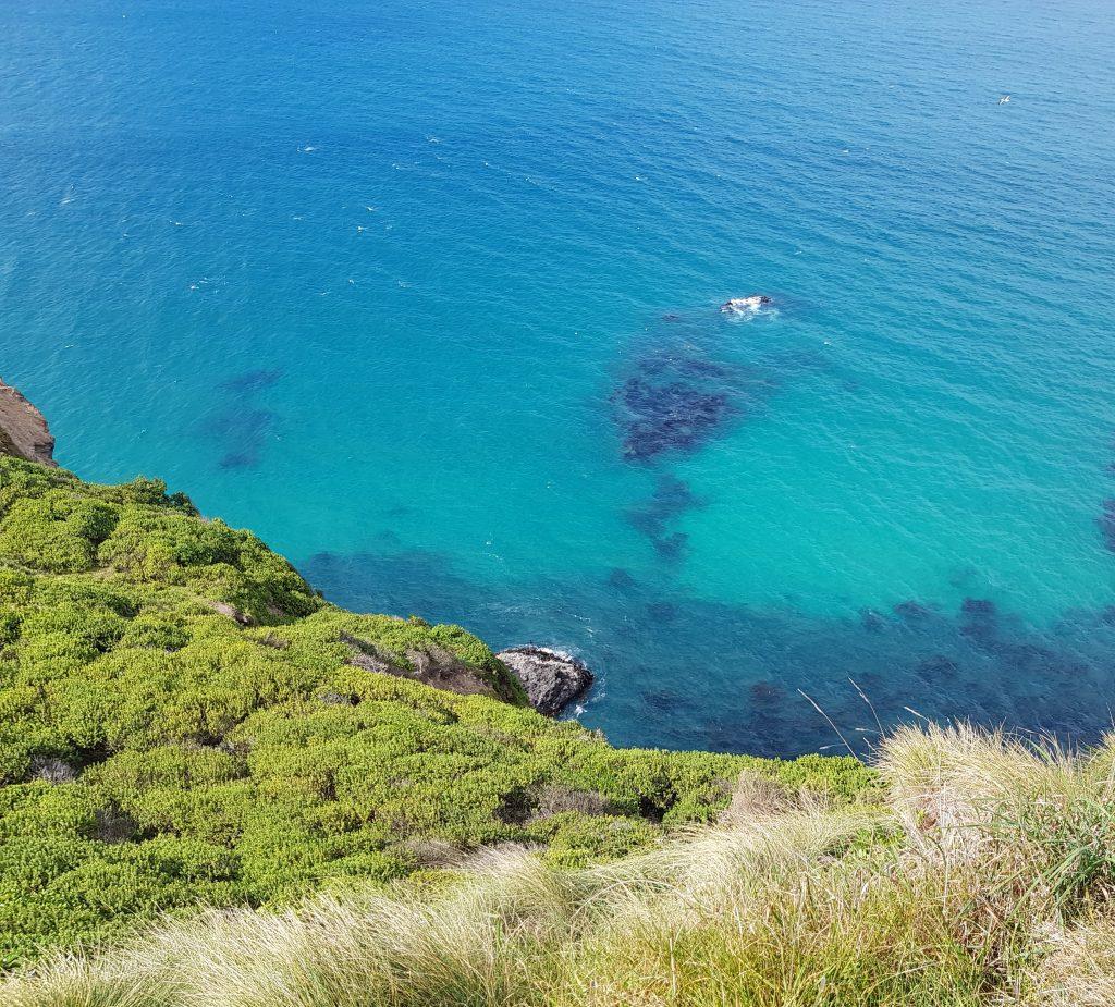 The sea below Pudneys Cliff