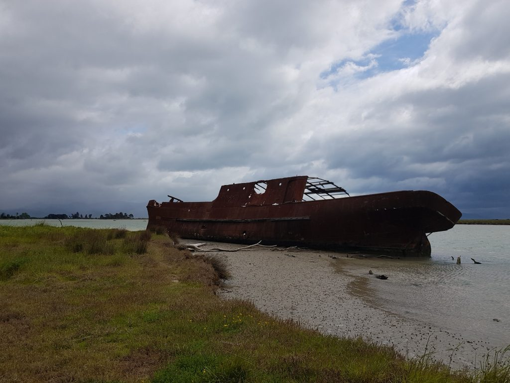 SS Waverley at Wairau Lagoon