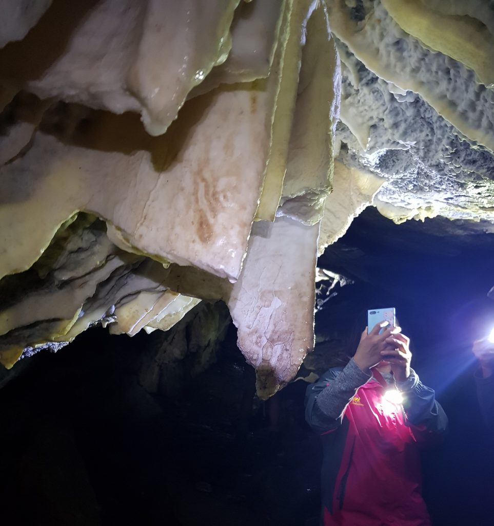 Stalactites in Luxmore Caves