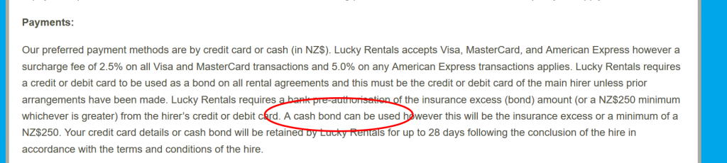 Lucky Rentals booking snafu