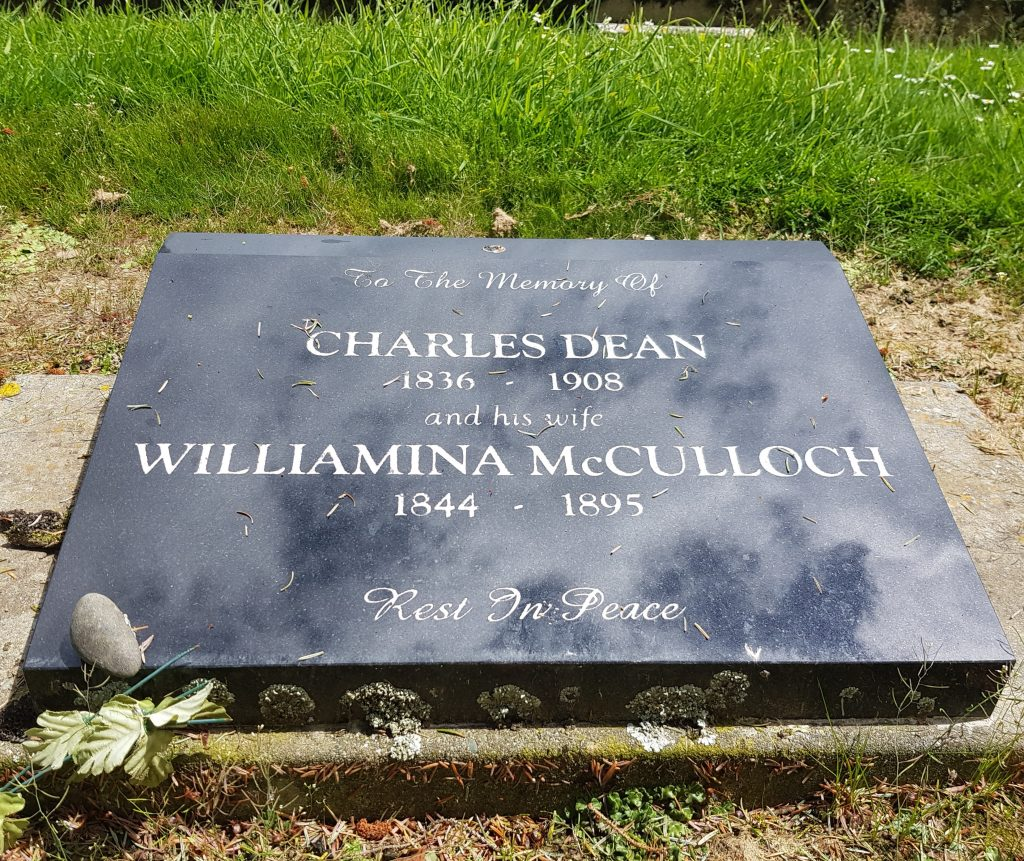 Headstone of Charles and Minnie Dean