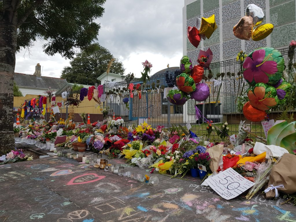 Tributes at Dunedin Mosque
