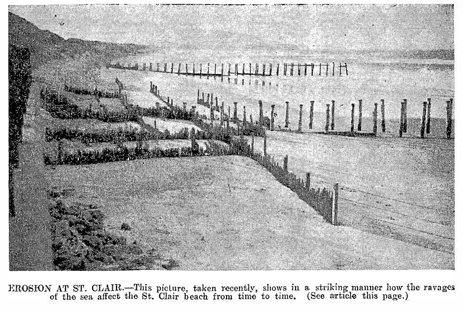 1936 erosion at St Clair