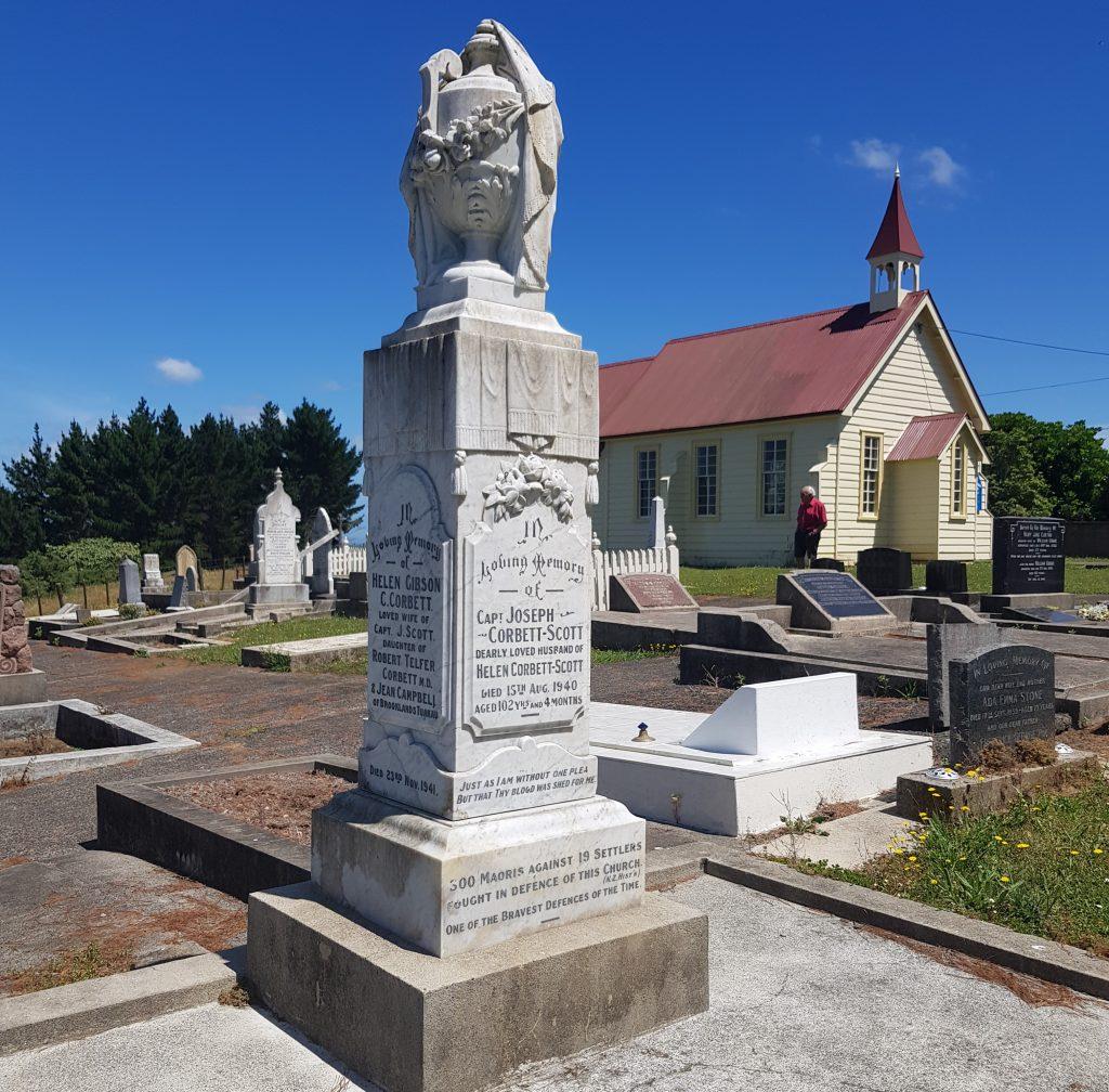 Captain Joseph Corbett Scott's headstone