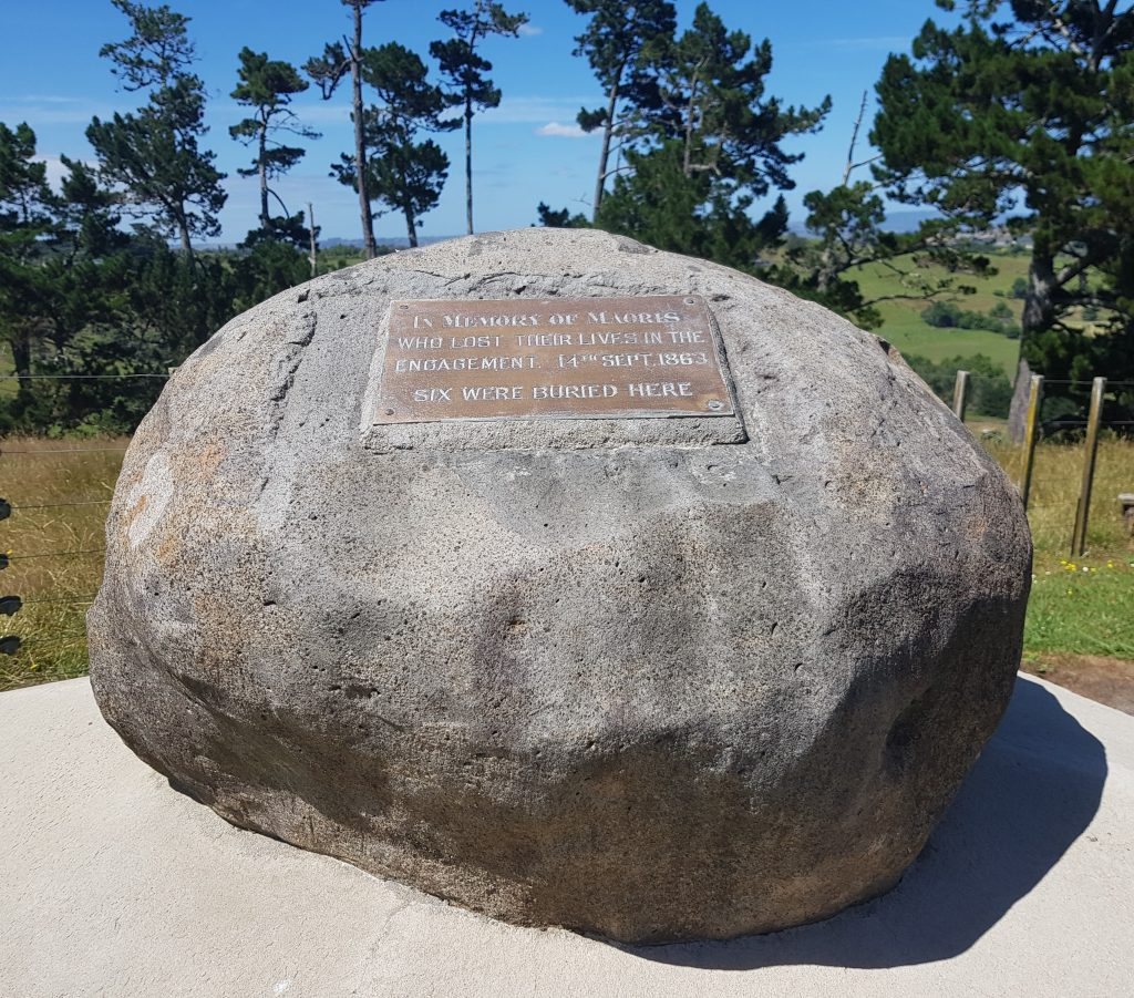 Memorial to fallen Maori at East Pukekohe