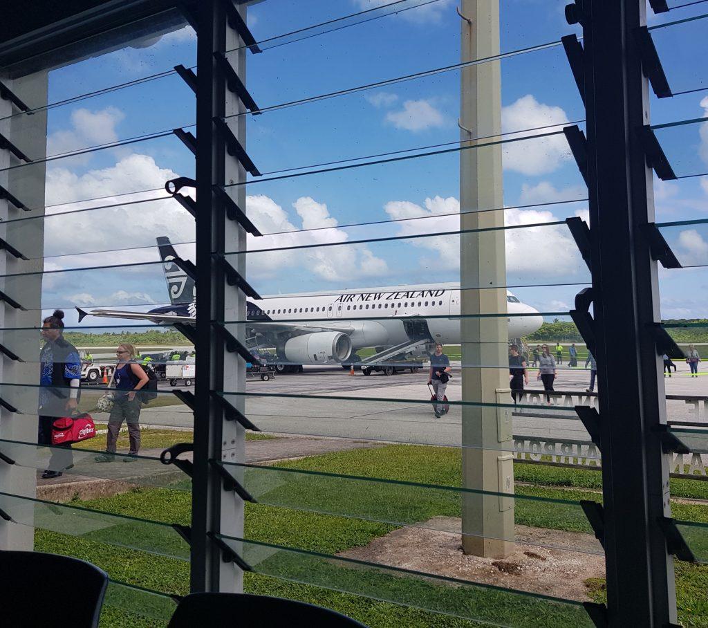 My plane lands at Hanan International Airport