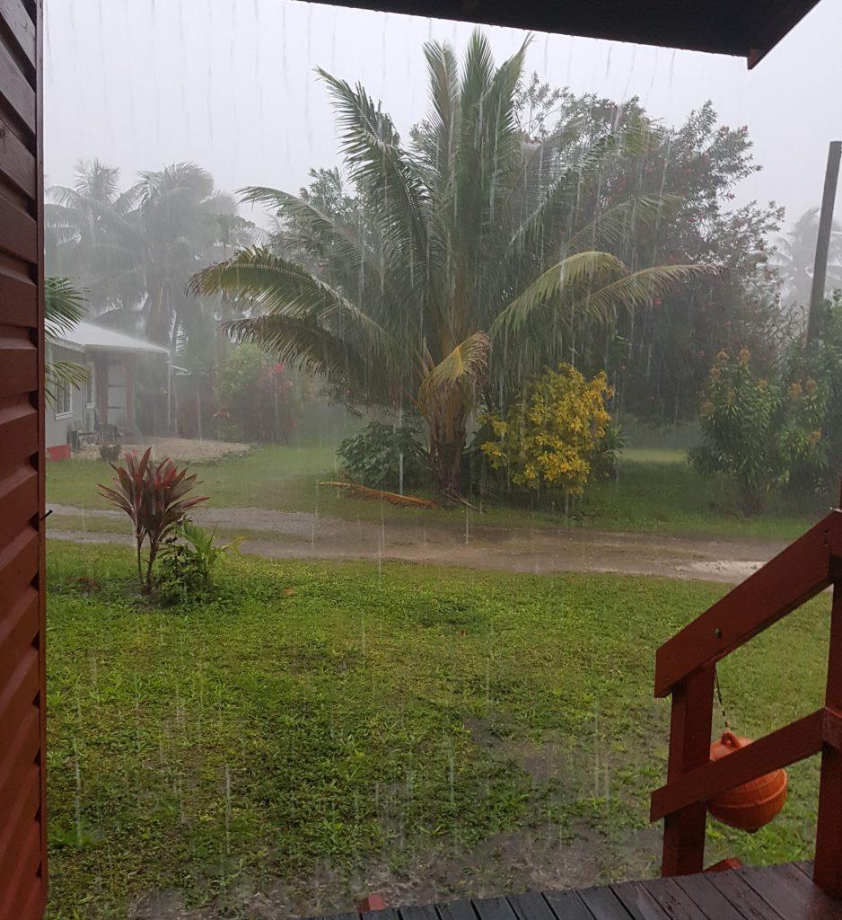 Rainstorm on Niue