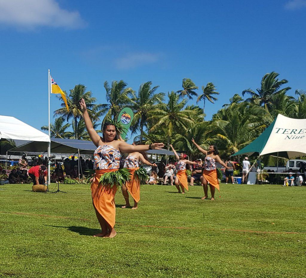 Youth dancing at Tuapa