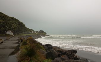 The Stormy Shore of New Plymouth