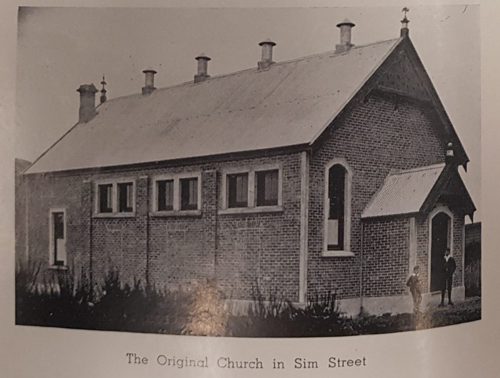 The original church in Sim Street