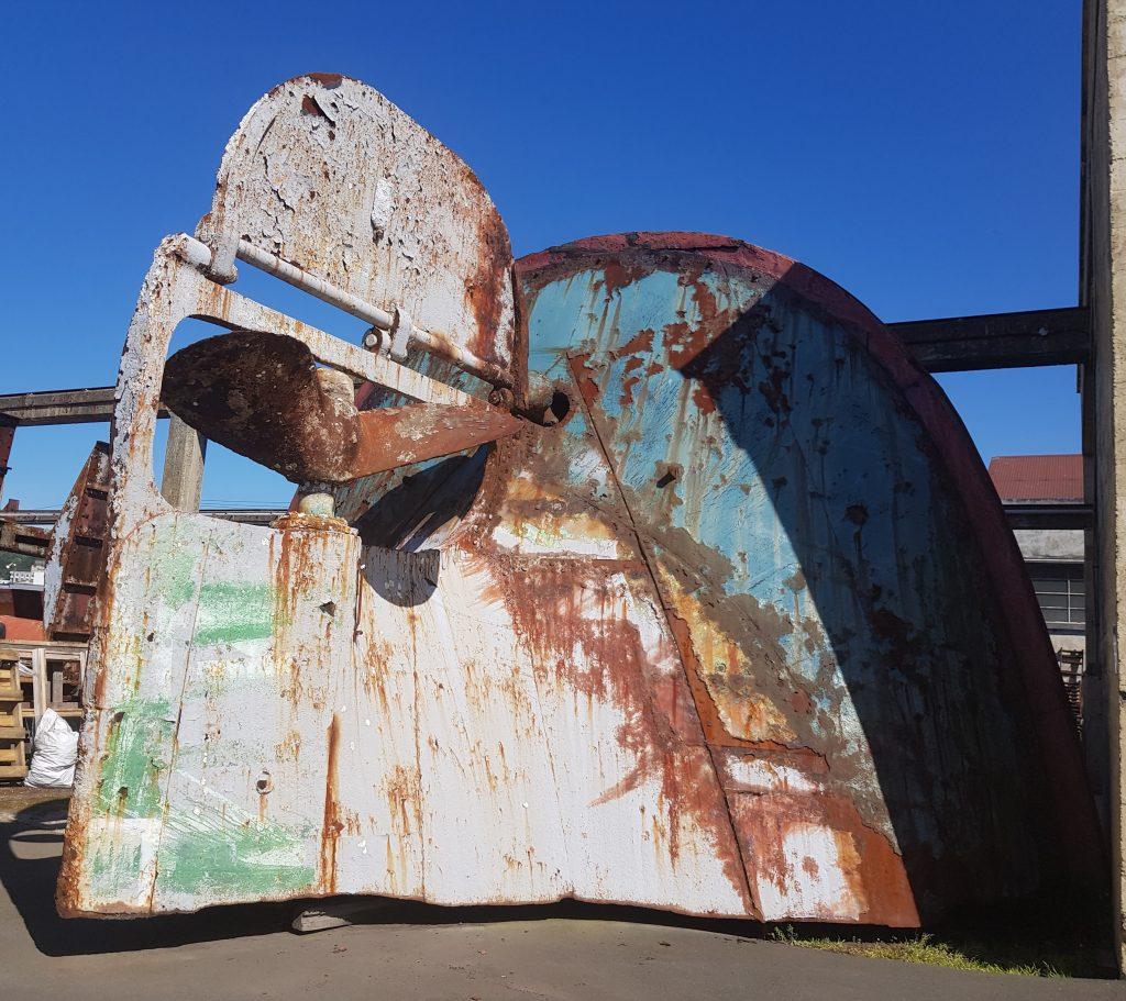 Stern of Te Whaka steamship