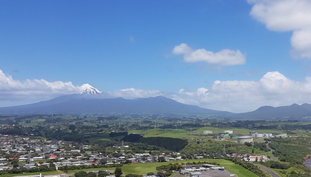 View of Mount Taranaki from Puketutu