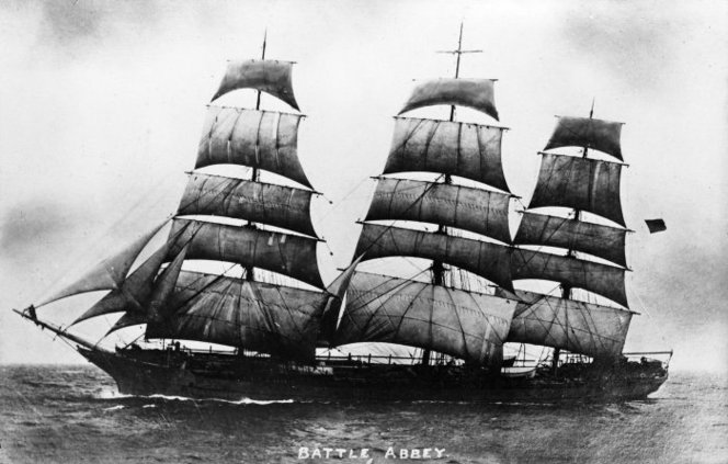 Ship Timandra. Ref: PAColl-2200-1. Alexander Turnbull Library, Wellington, New Zealand. /records/23107244