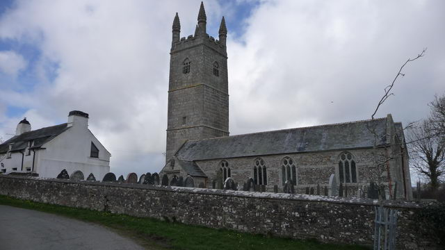 Church of St Denis, North Tamerton. Image source: Wikipedia