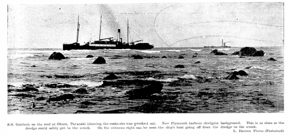 The stranded Gairloch. Source: Papers Past