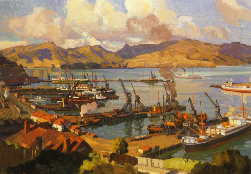 Lyttelton Harbour from the Bridle Path, 1937.