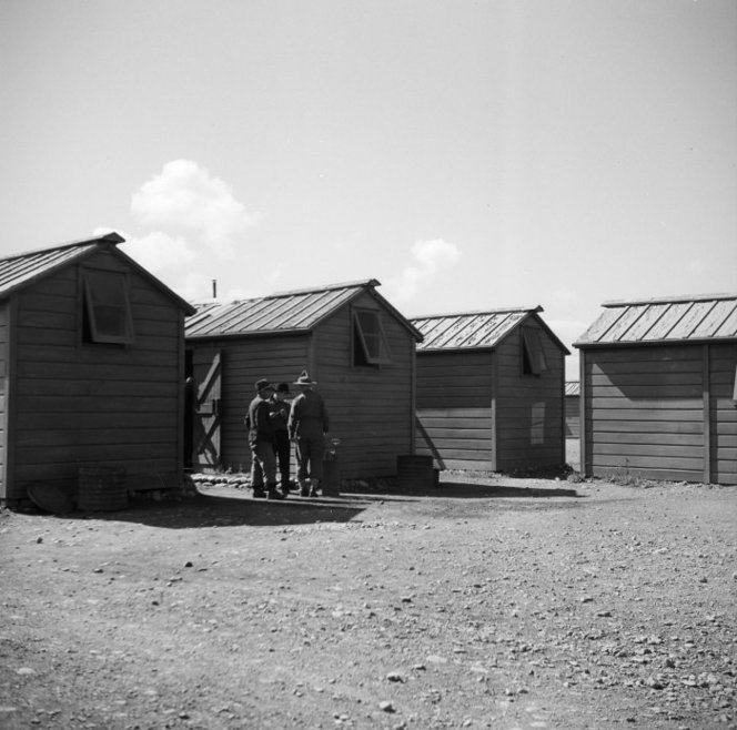 Japanese prisoner of war camp near Featherston. Ref: 1/4-000777-F. Alexander Turnbull Library, Wellington, New Zealand. /records/23215269