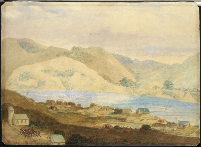 Town of Petre (Whanganui), 1844. See end of article for image attribution