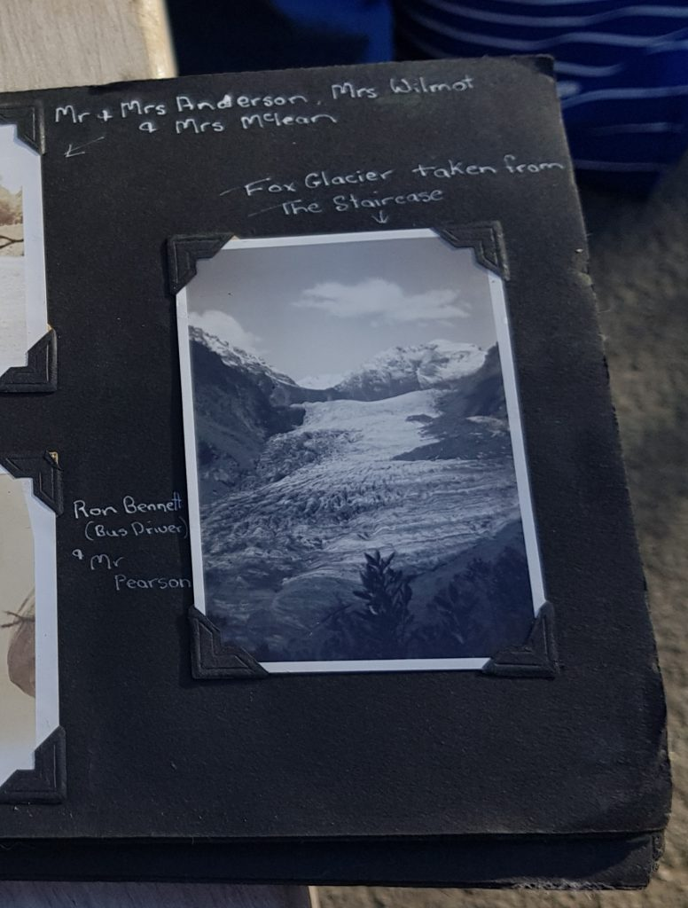 Image of Fox Glacier in gradma's photo album